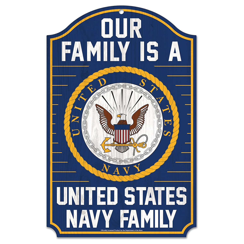 NA WinCraft Military Navy United States Navy 11 x 17 Wood SignUnited States Navy 11 x 17 Wood Sign Multicolor