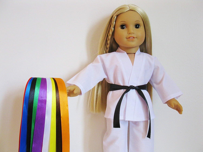 Handmade Doll Clothes White Karate Uniform Gi Judo TKD fits 18 American Girl Dolls