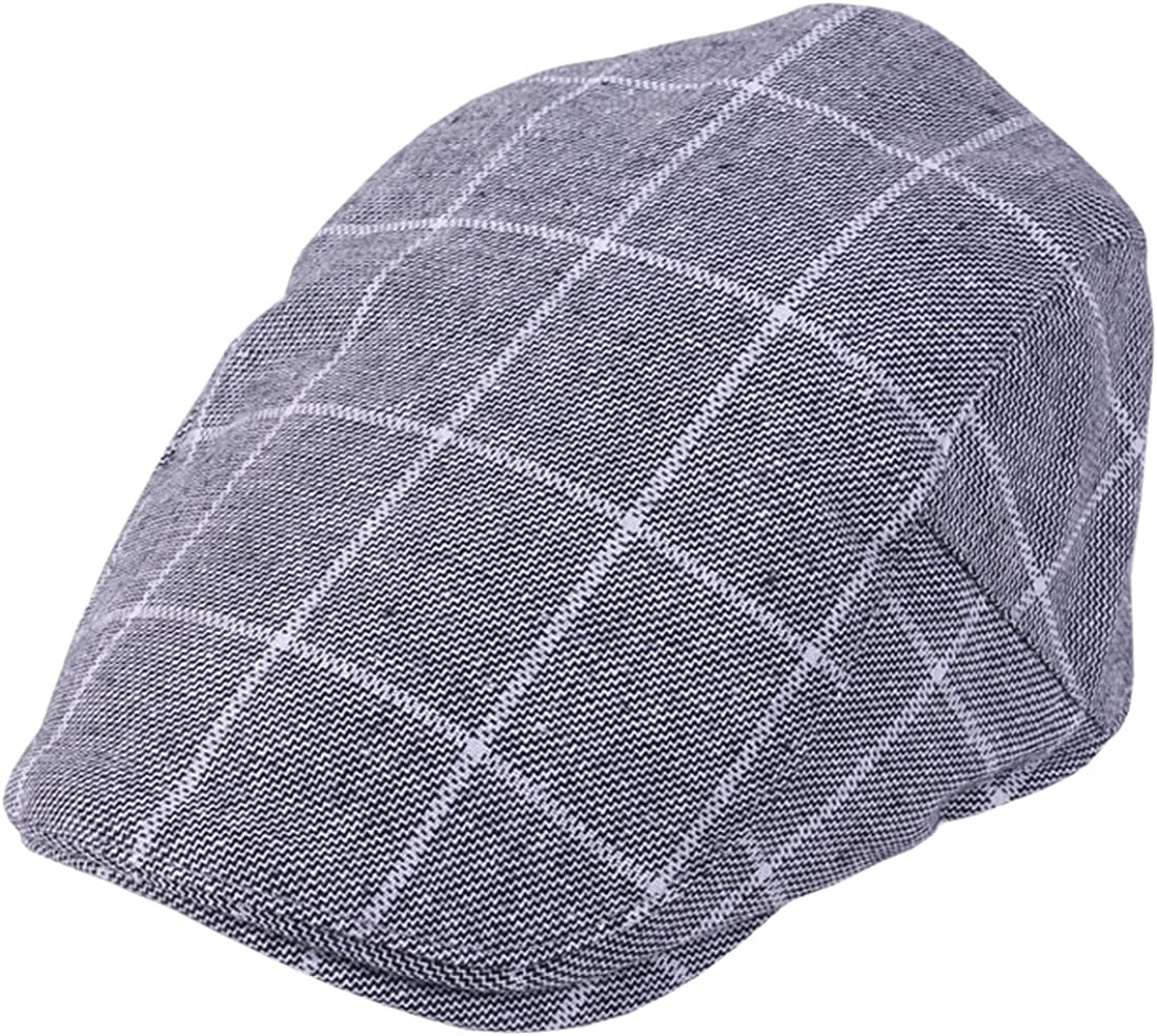 Mens Checked Driving Irish Newsboy Flat Caps XueXian TM