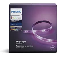 PHILIPS Hue LightStrip Plus (Compatible with Amazon Alexa, Apple Home Kit and Google Assistant) - 800540 (Packaging may Vary)