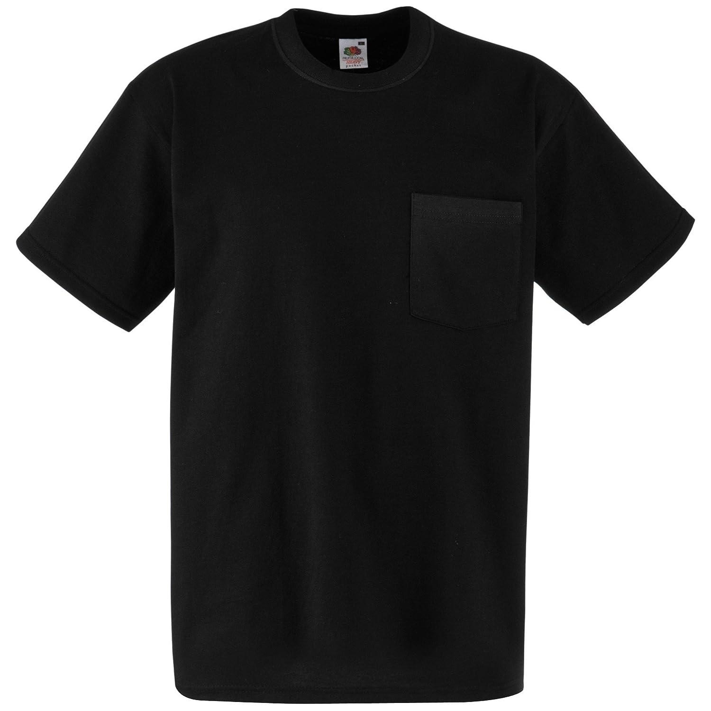 (フルーツオブザルーム) Fruit Of The Loom メンズ ヘビーウェイト ポケットつき 半袖Tシャツ トップス ショートスリーブTシャツ 男性用 B00B69AEXM XX-Large|ブラック ブラック XX-Large