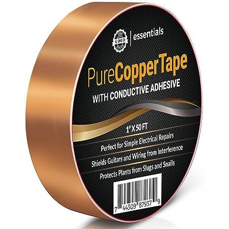 """Conductor de cobre Craft cinta – 1 """"x 50 ft – Crear circuitos de"""