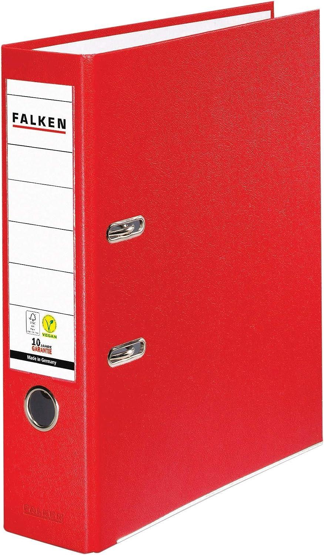 Falken Ordner S80 PP-Color DIN A4 80 mm,... Kunststoff mit genarbter PP-Folie