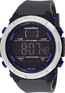 Timex Men's Digital Watch, Chronograph Display and Silicone Strap TW5M21000