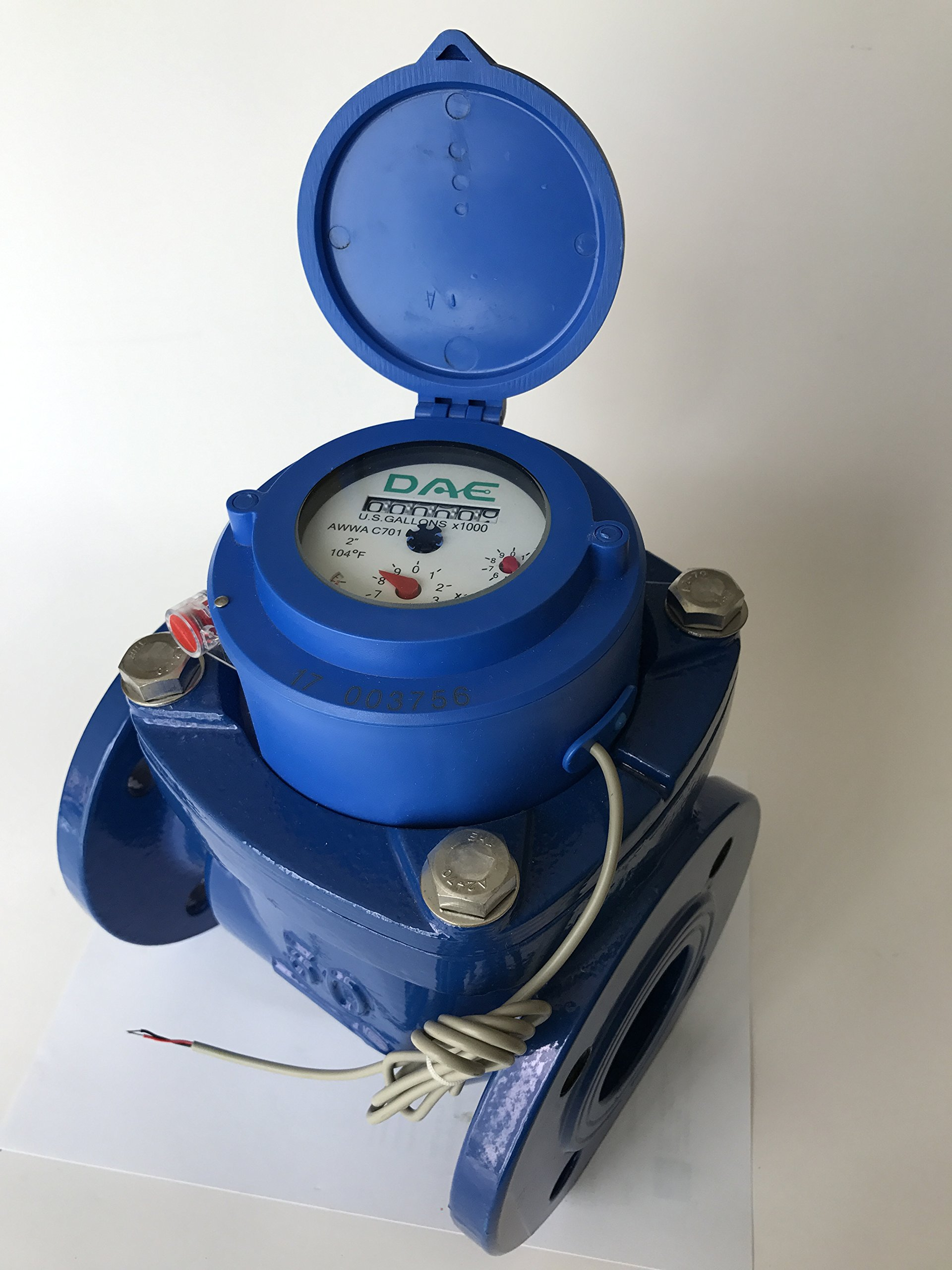 DAE WP-200P 2'' Woltmann Helix Water Meter, Pulse Output, Gallon