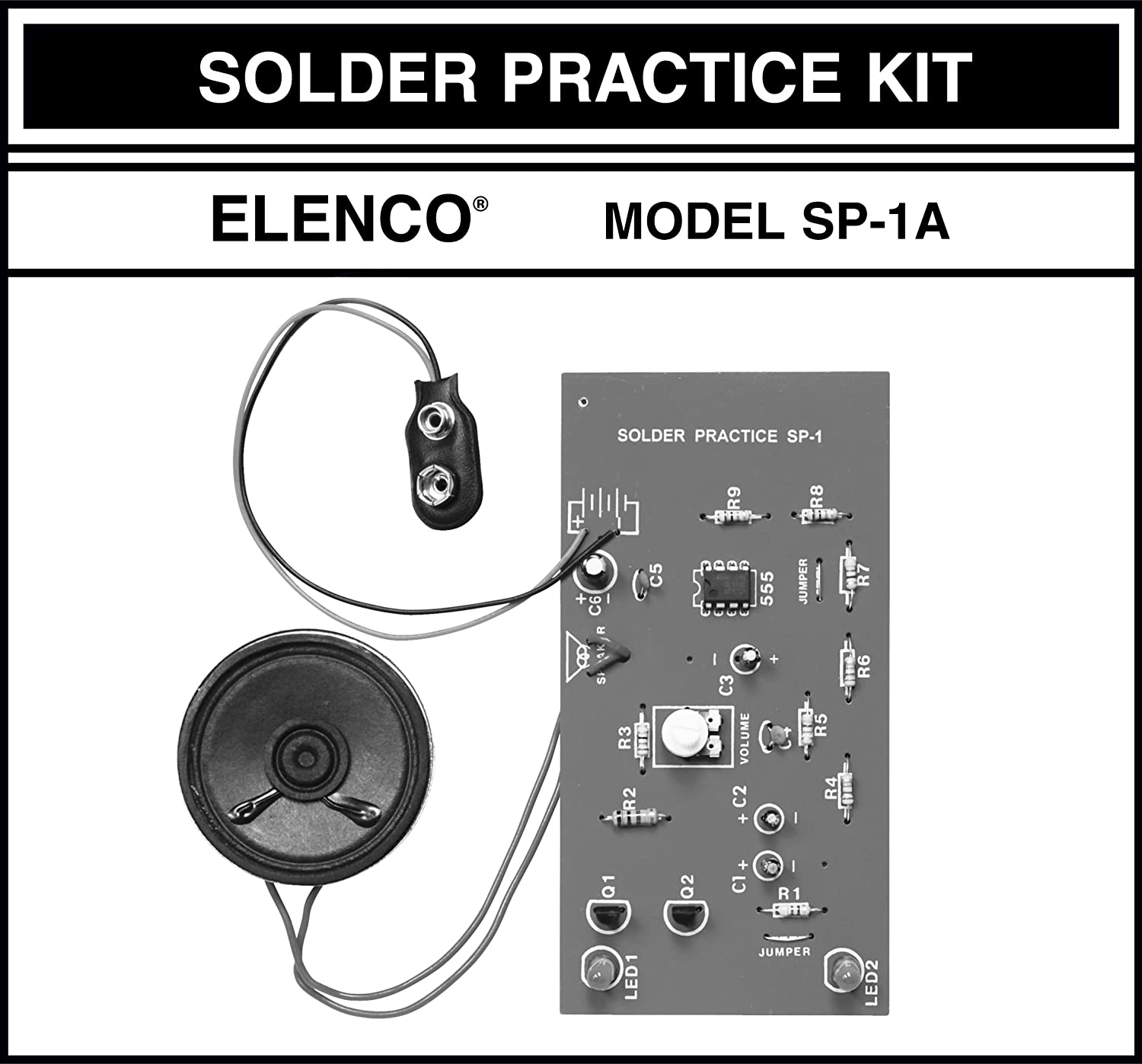 Elenco Practical Soldering Project Kit Toys Games Selling Leads Sell Pcba Printed Circuit Board Assembly