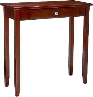 DHP Rosewood Tall Sofa Table, Multi Purpose Small Space Table, Medium  Coffee Brown