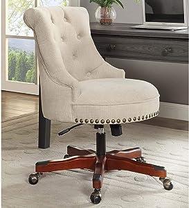 Linon Pamela Off-White Office Chair