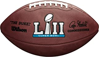 Wilson Sporting Goods Super Bowl LII Leather Game Football, Brown