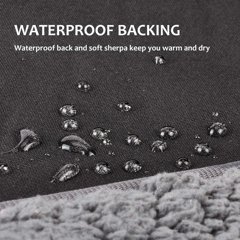 Tirrinia Outdoors Waterproof Throw Blanket, 51''x 59'' Sherpa Fleece Stadium Windproof Mat for Traveling, Camping, Hiking, Football - Machine Washable by Tirrinia (Image #2)