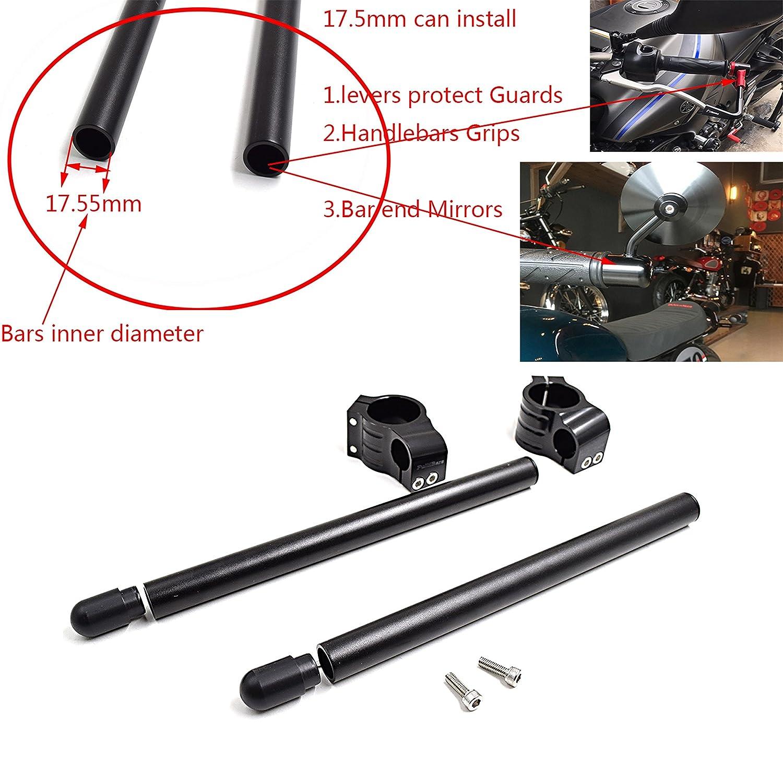 CNC Aluminio Kit semimanillares moto 33mm para CMX250/CB350/CB400/KZ400/GN250 GS250 GS400 /SRX250/XV250 XS400 Universal Tenedor Ø 33MM semimanillares ...