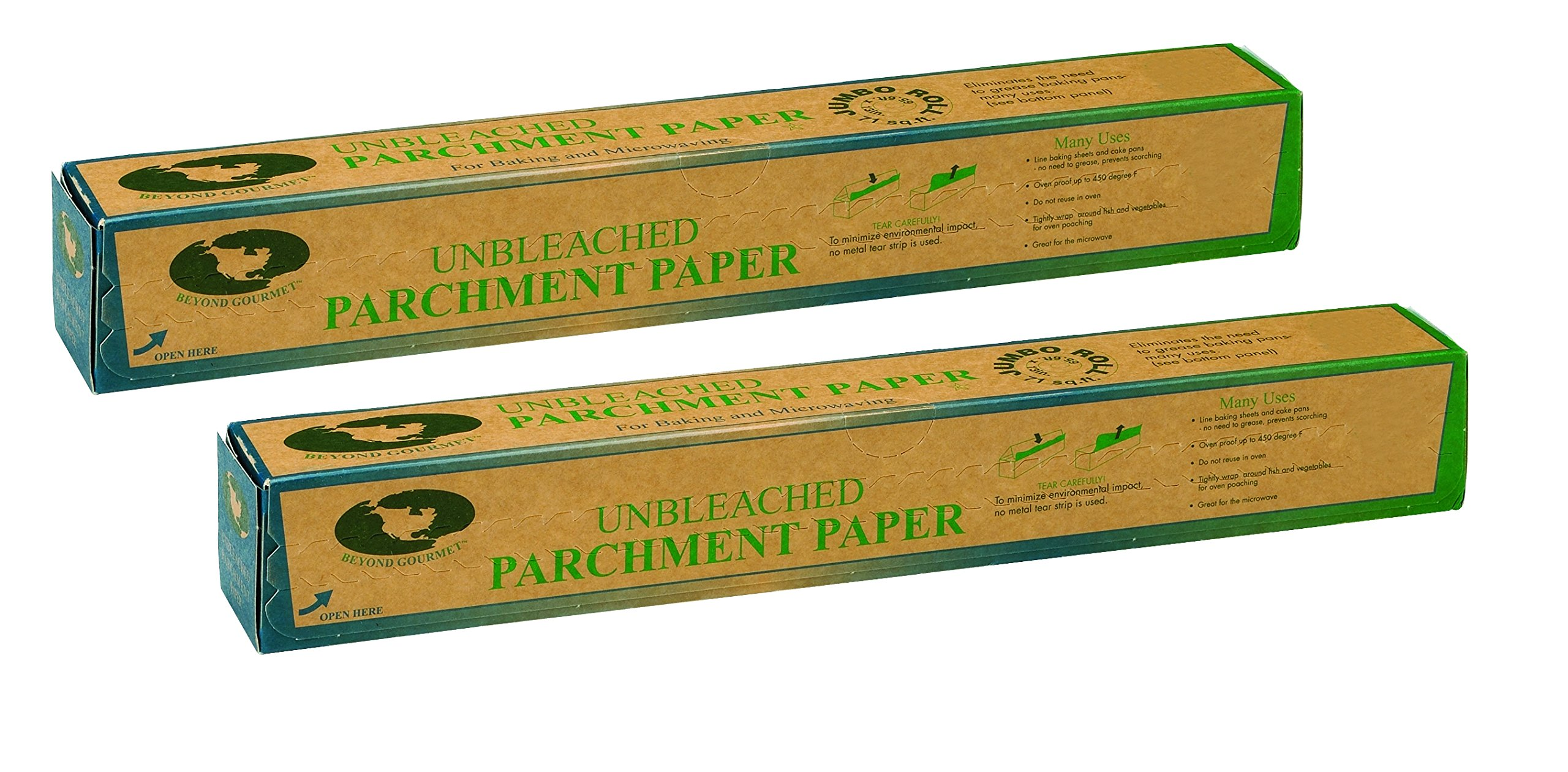 Beyond Gourmet Unbleached Non-Stick Parchment Paper, Made in Sweden, 71-Square-Feet, Set of 2 by Beyond Gourmet