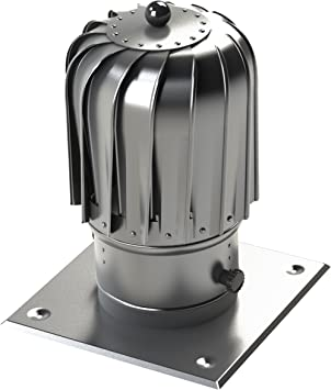 Kaminaufsatz Ø 150mm Aluminium Alu Drehbarer Kugelaufsatz Schornsteinaufsatz Lüftungsaufsatz Ofen Kamin Lüftung Baumarkt