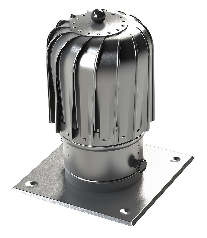 Wind Rotating Chimney Cowl Cap in Aluminum Ventilation Spinning Ø 150 mm Prodmax