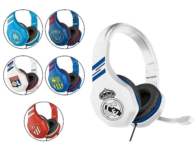 Real Madrid Auriculares gaming - accesorio gamer para PS4, PS4 Pro, Xbox One, PC: Amazon.es: Videojuegos