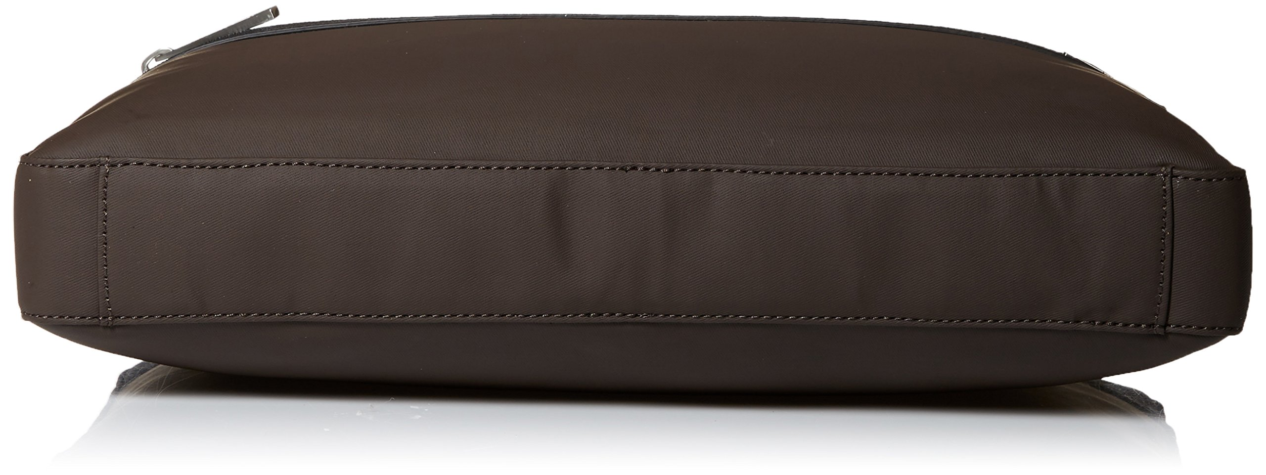 Calvin Klein Men's Nylon with Saffiano Trim Slim Attache, Dark Chocolate Brown by Calvin Klein (Image #4)