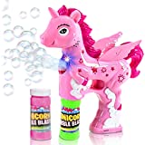 ArtCreativity Unicorn Bubble Blaster with Light and Sound | Includes 1 Bubble Gun & 2 Bottles of Bubble Solution…