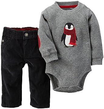 0b96acc45 Amazon.com  Carter s Baby Boys  Holiday 2-Piece Bodysuit   Corduroy ...
