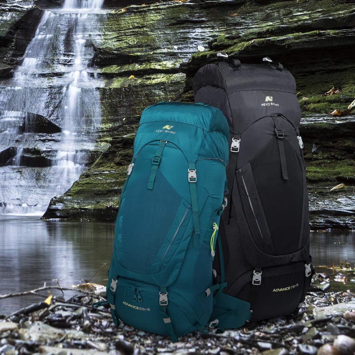 NEVO RHINO 50L//60L//80L Internal Frame Backpack,Ultralight waterproof Daypack for Hiking Camping