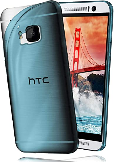 moex HTC One M9   Hülle Silikon Transparent Türkis Clear Back-Cover TPU Schutzhülle Dünn Handyhülle für HTC One M9 Case Ultra
