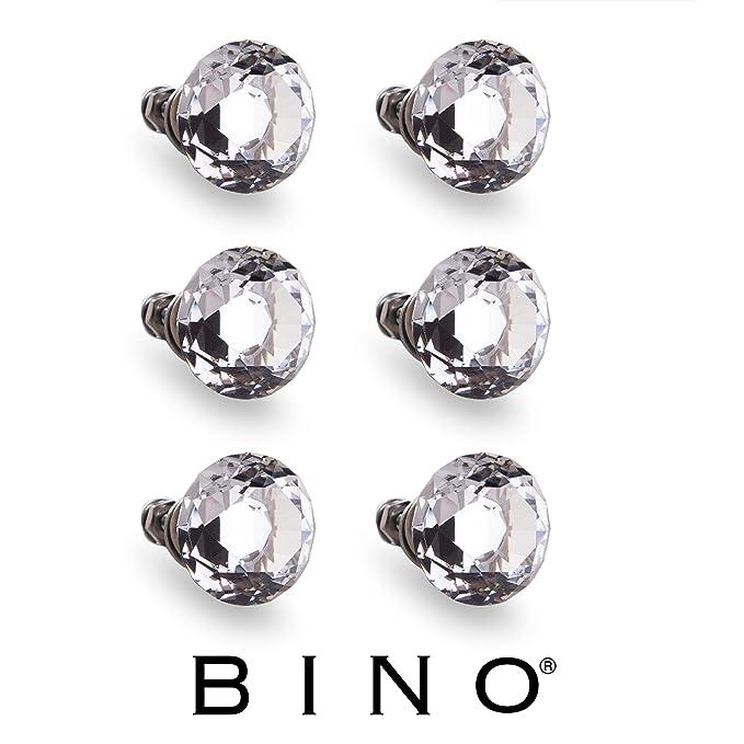 BINO 6-Pack Crystal Drawer Knobs - 1.25