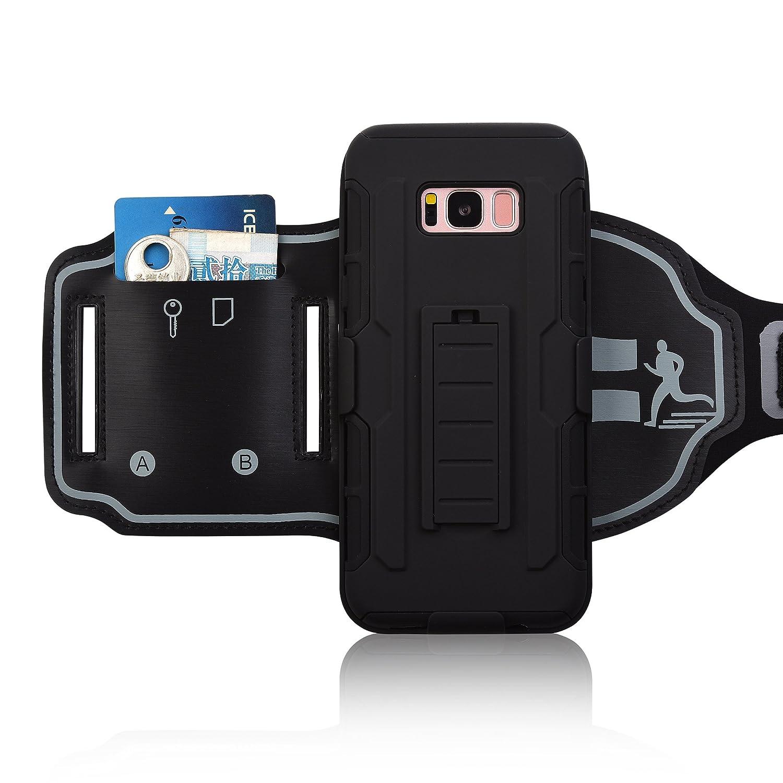 Sportarmband Armband für Samsung Galaxy S8 Plus Hybrid Hartschale mit Sporthülle 180 ° drehbar Holster Sport Band für Laufen Joggen Fitness oder Gym