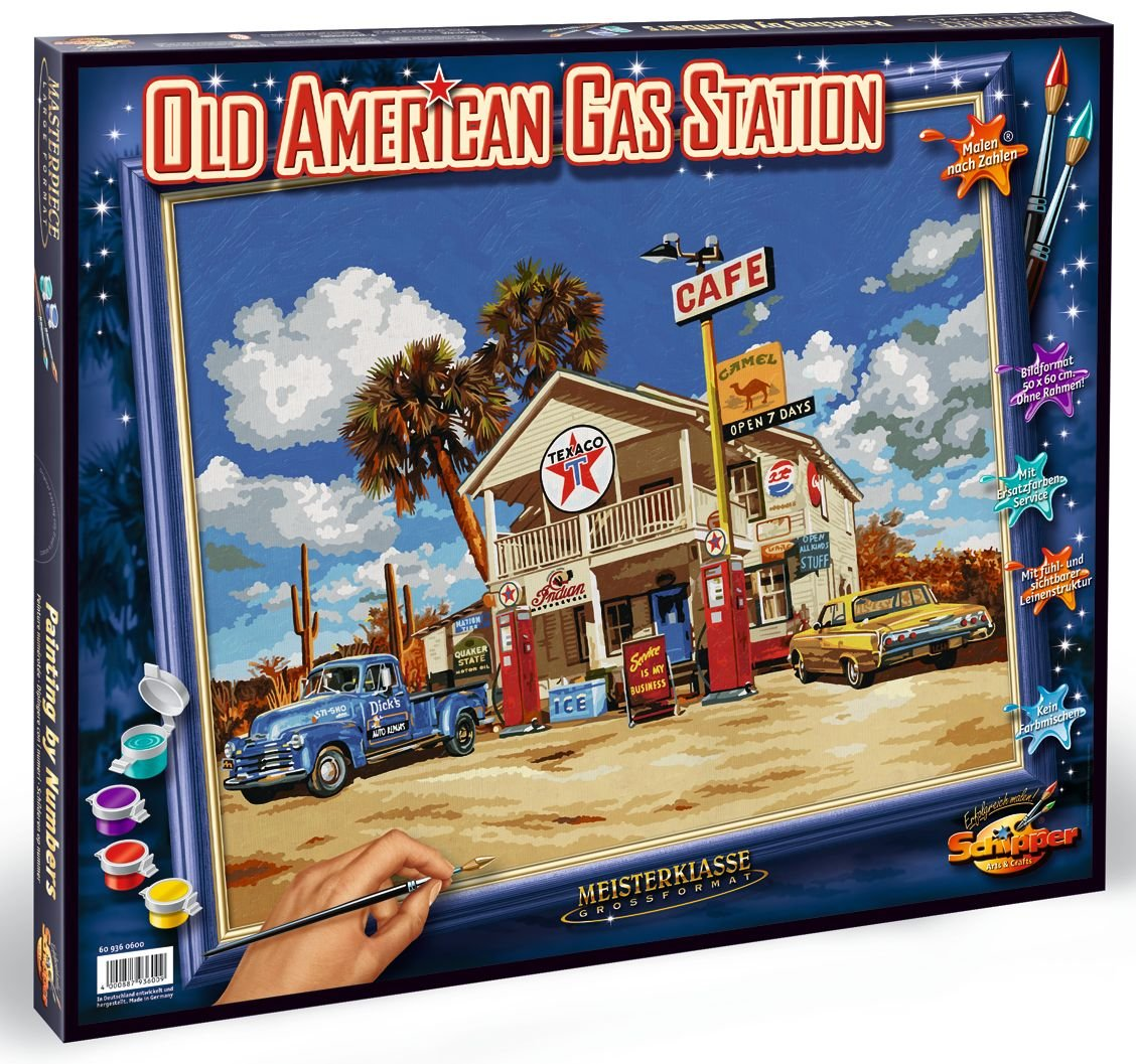Norris Paint by#S: Old American Gas Station Paint by# by Norris