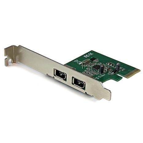 StarTech.com 2 Port 1394a PCI Express FireWire Card - PCIe FireWire Adapter - 1394a FireWire PCI Express - Dual Port PCIe 400 Card (PEX1394A2V)