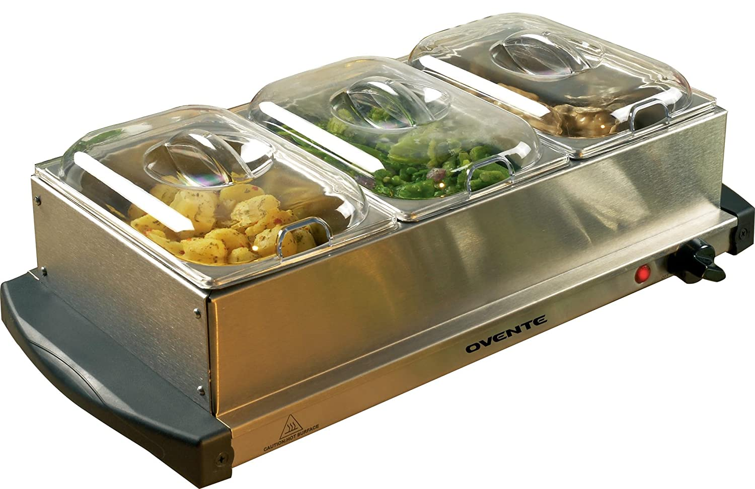 Ovente Food Warmer ~ Ovente mini tray buffet server and food warmer with