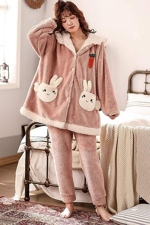 Bayrick Pijama Invierno Mujer Polar,Lindo Conjunto de Pijamas ...