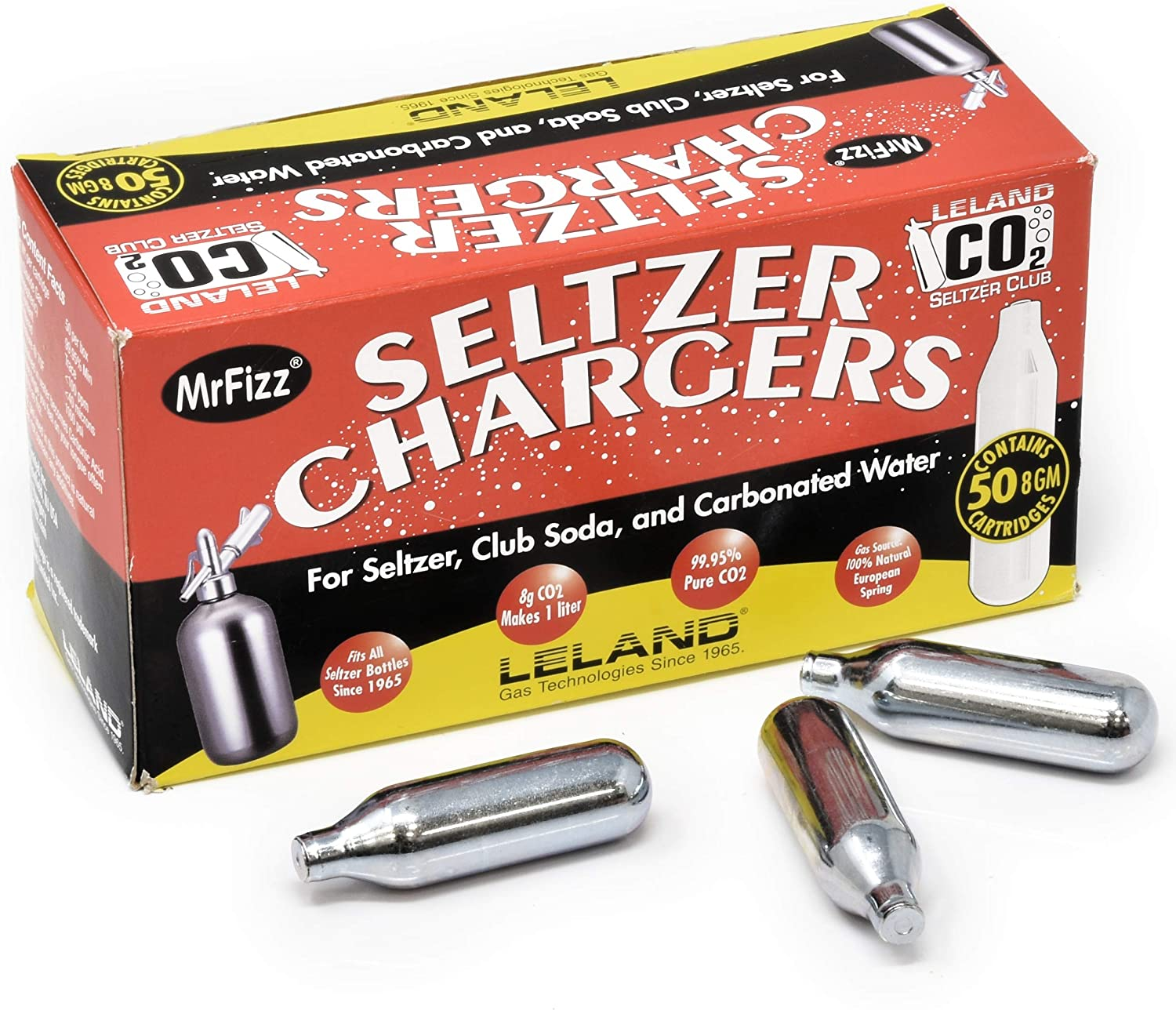 Leland Soda Chargers Seltzer Chargers Co2, 200 Count