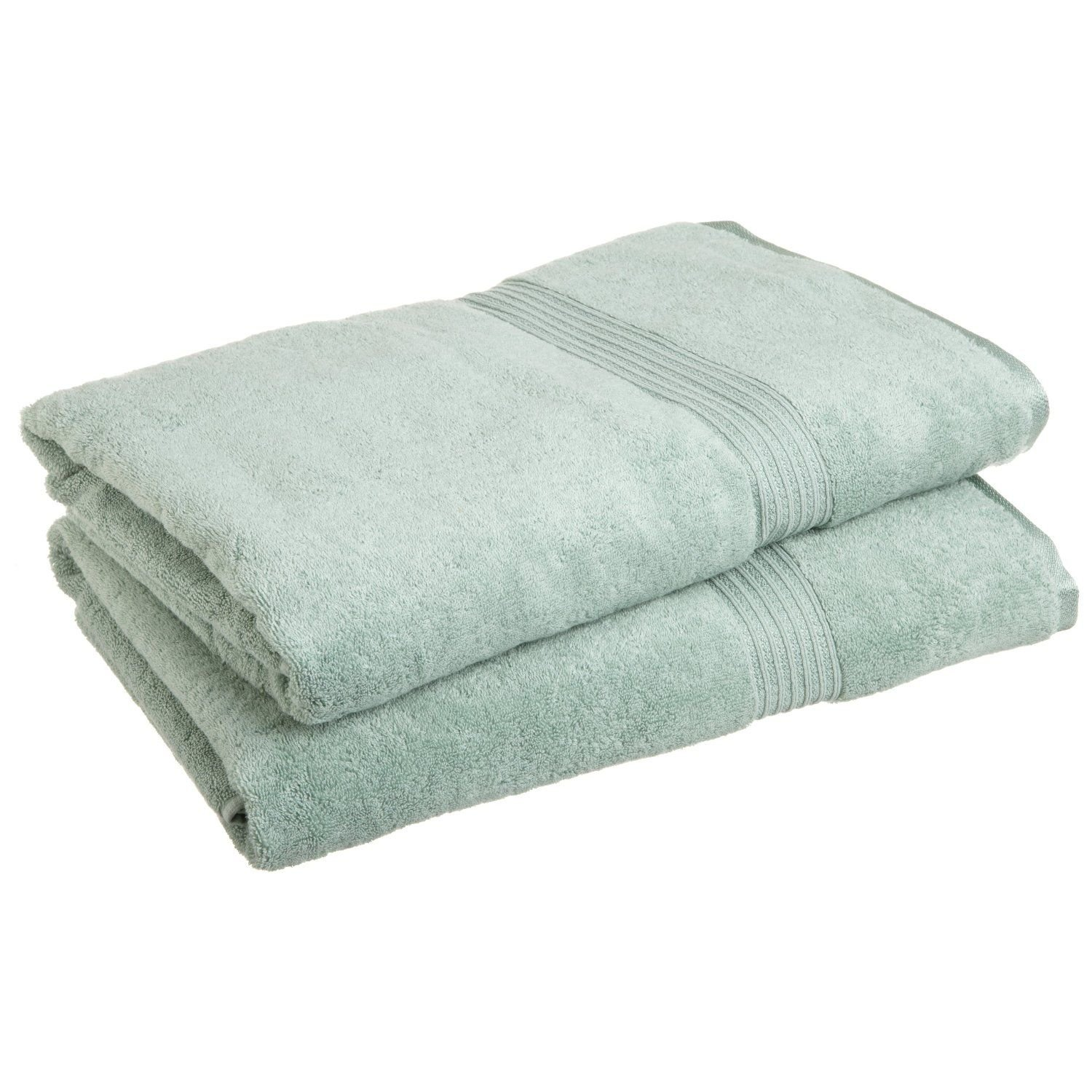 Superior Luxurious Soft Hotel & Spa Quality Oversized Bath Sheet Set of 2, Made of 100% Premium Long-Staple Combed Cotton - Sage, 34'' x 68'' each