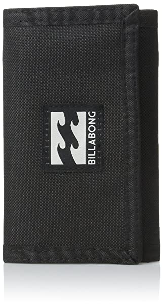 amazon com billabong men s atom tri fold wallet stealth one size