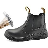 SAFETOE Men's Work Safety Boots Steel Toe Cap Adult's Dealer Leather Chelsea Boot