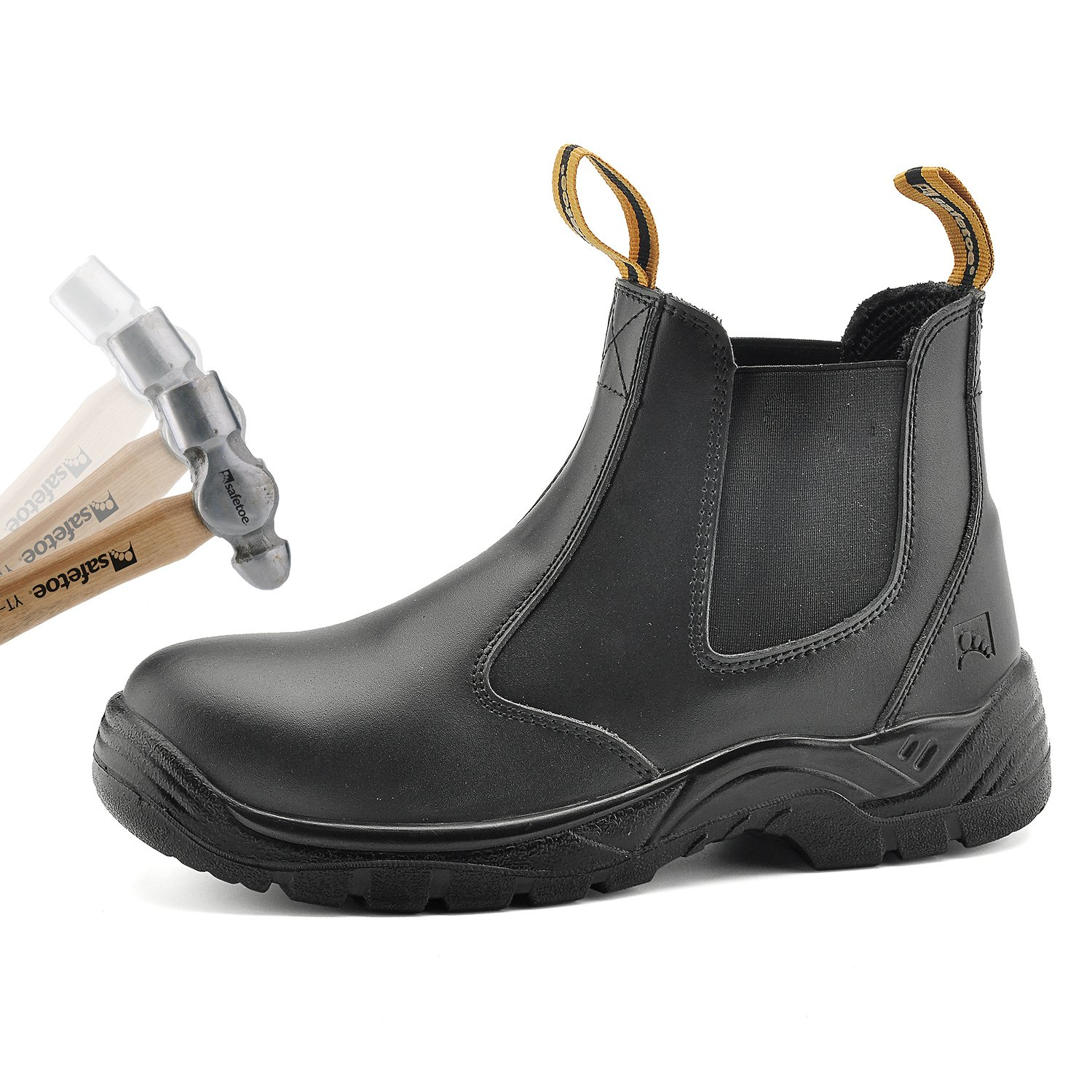 d5c836aed8b SAFETOE Water Resistant Safety Work Boots [CE Certified] - 8025 Free Sock  S3 Site Safety Shoes with Lightweight Wide Fit Steel Toe Cap, Black ...