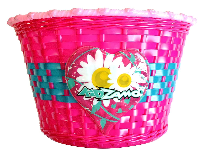 Kidzamo KZBA02 Girl Flower Basket, Pink