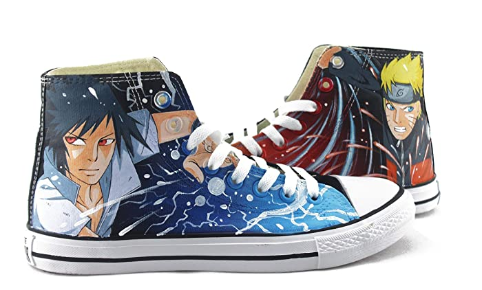 Amazon.com  Anime Shoes Hand Painted Canvas Shoes Naruto Anime Shoes Men Women  Sneakers Fashion Shoes Free Shipping  Handmade 8c9d6b9a2b81