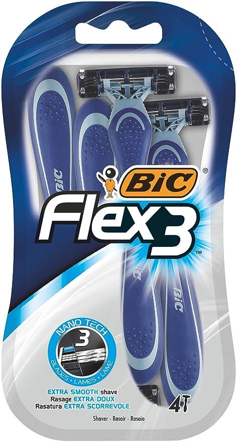 BIC Flex 3 - Cuchilla de afeitar para hombre (4 paquetes con 4 unidades) aae1226e5bf7