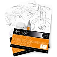 Ashton and Wright - A4 Semi Transparent Layout Pad - 50gsm Paper - 60 Sheets - Pack of 2