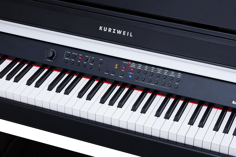 Kurzweil MP20 BP Piano Digital mueble negro brillante: Amazon ...