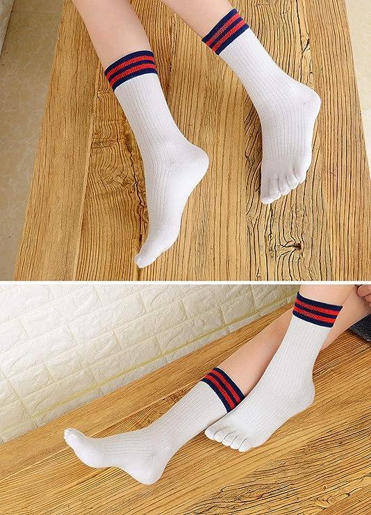 PUTUO Calcetines de Dedos Mujer Calcetines Cinco Dedos de Deporte ...