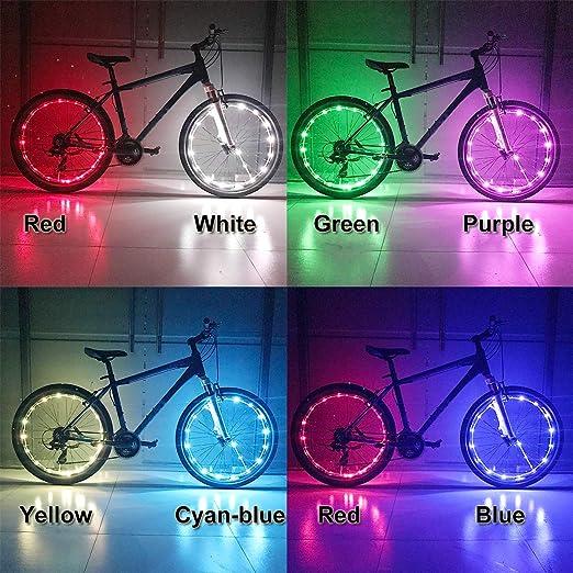 Nafa - Bombillas LED para Bicicleta, 7 Colores cambiantes ...