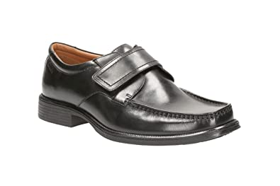 6699800566e05 Clarks Mens Smart Huckley Roll Leather Shoes In Black  Amazon.co.uk ...