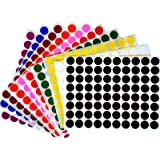"""Royal Green Color Coding Labels 1/2"""" Round Dot Stickers, Black/White/Red/Green/Yellow/Pink/Purple/Orange/Brown/Blue, 880 Count"""