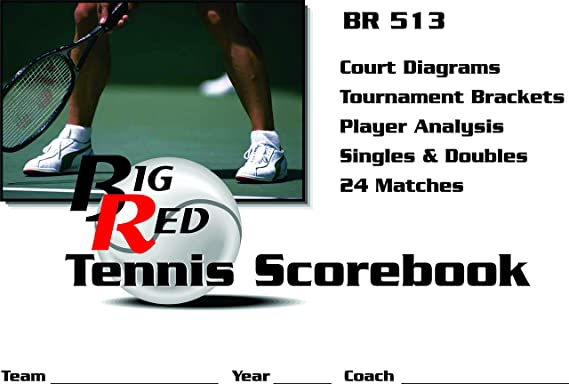 Amazon.com: Big Red Tennis Scorebook: Sports & Outdoors