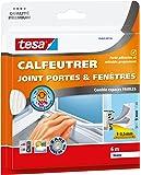 Tesa 05463-00134-00 Calfeutrer joint Portes et Fenêtres Comble espaces faibles 6 m x 9 mm x 1-3,5 mm - Blanc