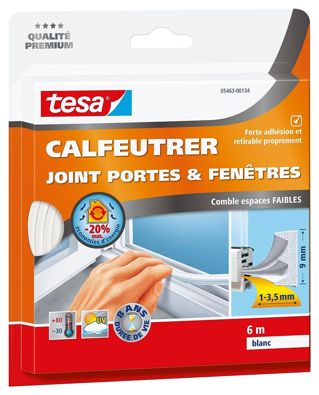 Tesa 05463-00135-00 - Junta para puertas y ventanas (6 m x 9 x 4 mm)