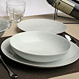 Tognana - Servicio completo de platos, 18 unidades, set para 6personas Metrópolis, hecho de porcelana, color blanco