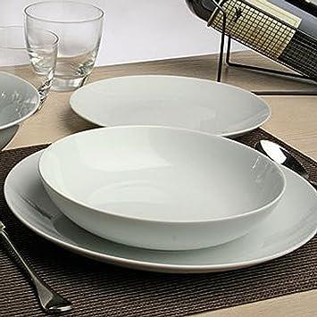 7c1161033cfc Servizi da tavola Servizio completo di Piatti 18 PEZZI Set per 6 persone  Tognana Metropolis Bianco ...
