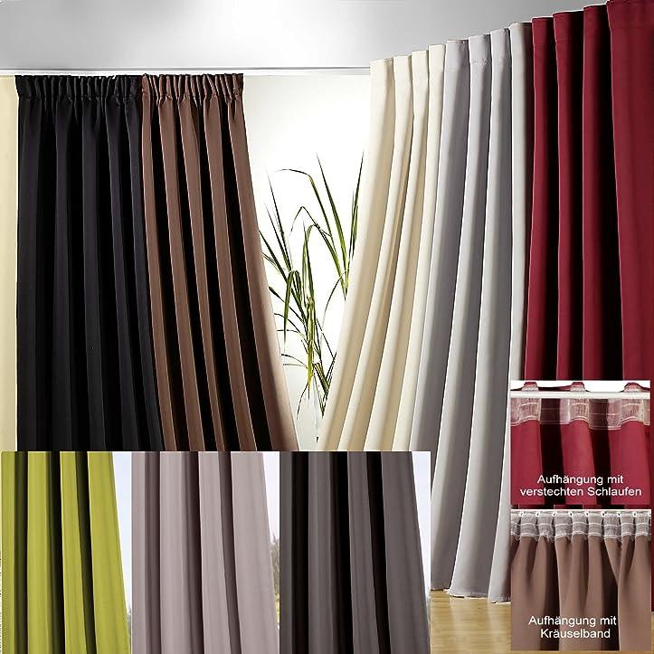 gardinen deko gardinen blickdicht lichtundurchl ssig. Black Bedroom Furniture Sets. Home Design Ideas